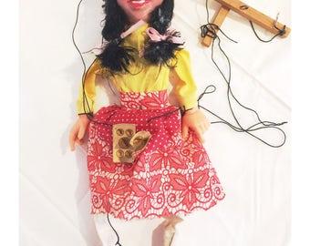 Vintage Composite Fortune Teller Gypsy Marionette