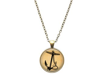 Nautical necklace Anchor pendant Sea jewelry