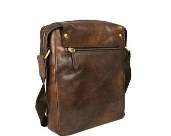 Mens Messenger Bag, Leather bag for men, Leather Messenger Bag, Shoulder Bag, Brown Messenger Bag - Song of Solomon