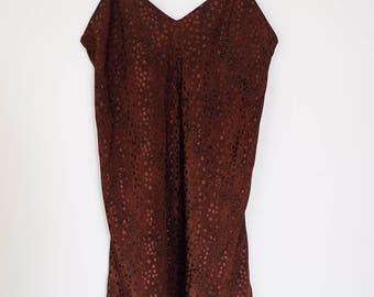 Vtg Printed Slip Dress