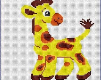 PDF Giraffe Color Chart Pattern Grid for Baby Blanket, Toddler Lap Blanket, Crochet, Knitting, Tunsinim Crochet, Digital Download Pattern