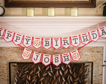 Pizza Party Birthday Banner