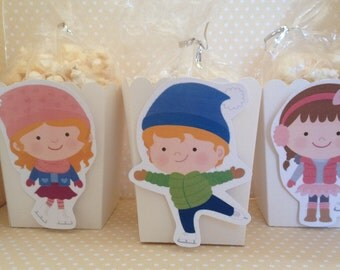 Ice Skating Party Popcorn or Favor Boxes - Set of 10