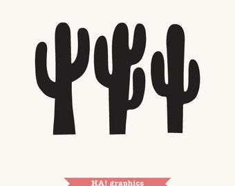 Cactus PNG, SVG and DXF Files - suculent, desert, ethnic, boho, Clipart, Vector, Instant Download