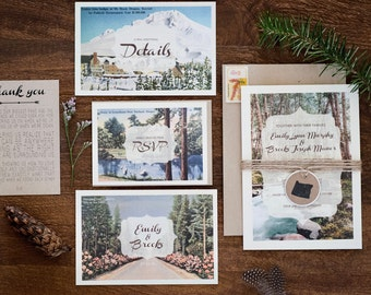 Rustic Portland Wedding Invitations