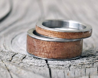 stainless steel ring, Titanium Ring,Stainless Steel Wedding Ring, Personalize Custom Engrave Men's Stainless Steel Ring, titanium wood rings