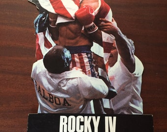 Vintage Rocky IV Counter Display/Small Standee of Sylvester Stallone