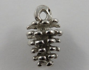 Pinecone Sterling Silver Vintage Charm For Bracelet