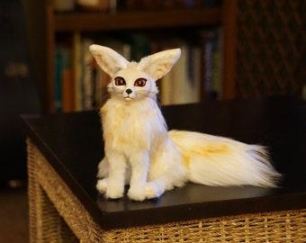 OOAK Poseable Fennec Fox Art Doll