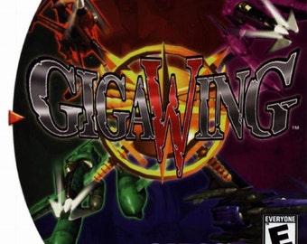 Giga Wing Custom Reproduction Sega Dreamcast Game.