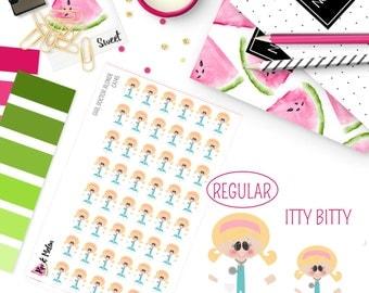 Female Girl Doctor Blonde Hair/Light Skin Stickers | 48 Kiss-Cut Stickers | OB-GYN, Female Doctor, Medical | CA145 |
