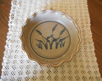 Handmade Stoneware Pie Plate