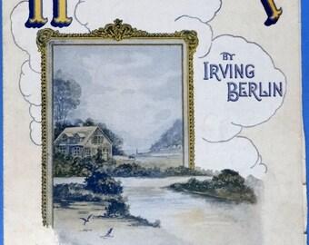 Homesick vintage sheet music Irving Berlin 1922  with Ukulele Arrangement