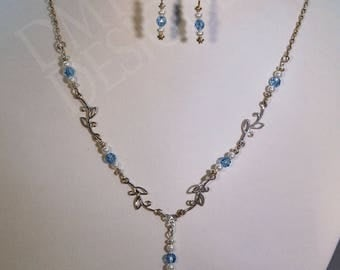 Delicato in Blue Necklace and Earring Set