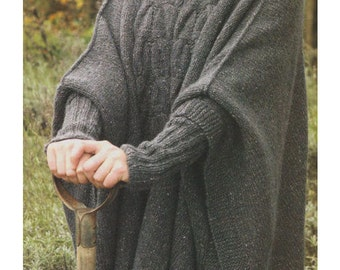 Knitting Pattern For Cape With Sleeves : Inset sleeves Etsy