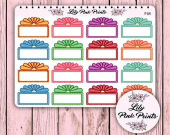 16 Fancy Movie Marquee F-04 - Perfect for Erin Condren Life Planners / Journals / Stickers.