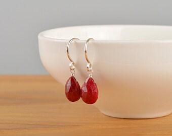 Ruby Earrings Etsy