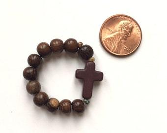 Tiny Pocket Rosary: Woodland Collection