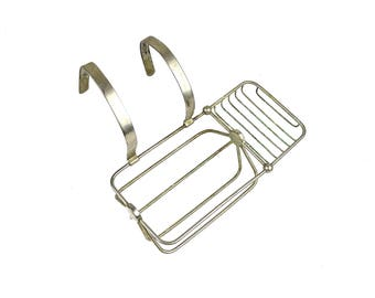 Antique Clawfoot Tub Large Soap Dish Sponge Holder The Brasscrafters Nickle Plated Brass Hinged Hangers Bath Decor