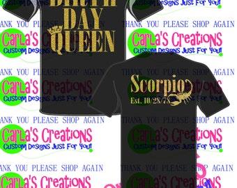 Birthday Queen/King/Princess/Girl
