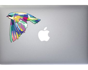 Pastel Flying Birdie - Full Color  - REFLECTIVE -  Decal for Macbook, Laptop or other device