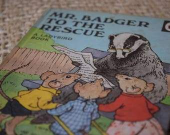 Mr Badger to the Rescue.A Vintage Ladybird Book. Series 401