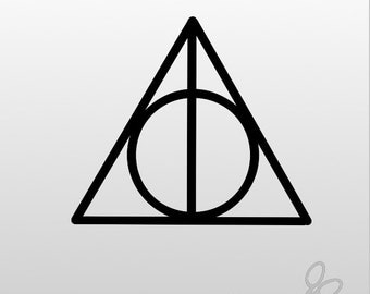 Deathly Hallows Decal, Harry Potter Decal, Deathly Hallows Car Decal, Harry Potter Car Decal