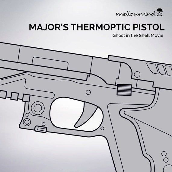 Ghost in the shell majors thermoptic pistol blueprint 11 scale ghost in the shell majors thermoptic pistol blueprint 11 scale from mellowmindcosplay on etsy studio malvernweather Gallery