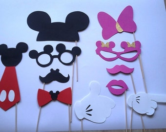 X 11 mickey and minnie photobooth accessories