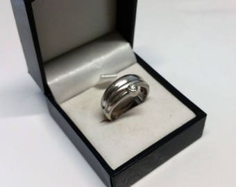 17.4 mm ring 925 Silver Crystal vintage rare unique SR786