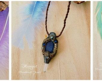 Black Friday Agate/ Amethyst amulet