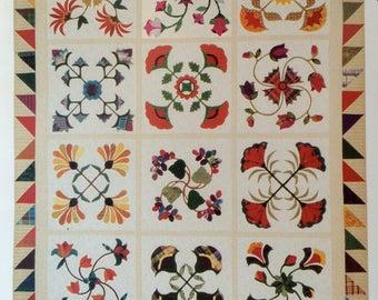 Thru Grandmother's Window 12 applique quilt block pattern set by Piece O' Cake Designs