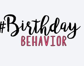 Birthday Behavior Tank Top