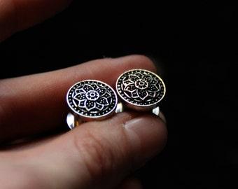 Mandala Ear Plugs - Stainless Steel - Gauges - Flower - Gypsy - Boho - Ethnic - Original - Boho - Design