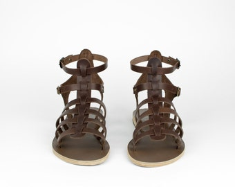 Women gladiator sandals, Women sandals, Brown gladiators, Gladiator sandals, Greek sandals, Roman Sandals