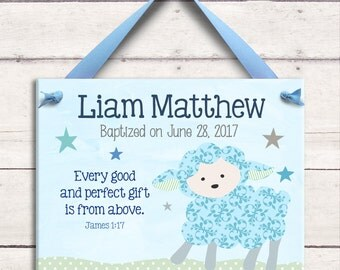 Every Good and Perfect Gift - Personalized Baptism - Personalized Baby - Dedication Gift -  Baby Personalized - Christening Gift - Baby boy