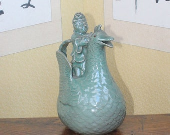Contemporary Korean Celadon by the Internationally Recogmized Shin Sang Ho, Displayed in 11 Major Museums Around the World