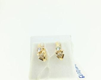 earrings diamonds TCW 0.46 and 14k rose gold style impressive women