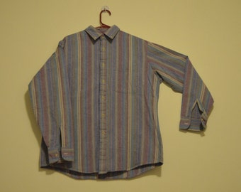 vintage Raintree Country striped denim shirt