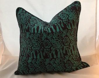 """20"""" Batik African Fabric Feather Down Decorative Throw Pillow"""