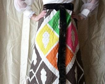 60's Quilt Maxi Dress
