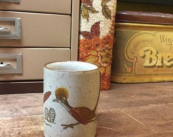 Vintage Mug Coffee Cup Stoneware Roadrunner
