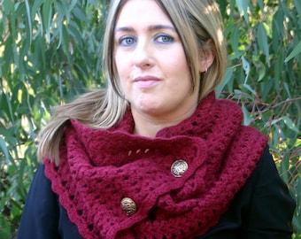 Crochet Pattern, Crochet Neck Warmer PDF, Scarf Pattern DIY  - The Willow Convertible Scarf
