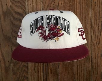 Vintage 90s University of South Carolina Snapback Hat Baseball Cap