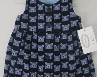 Bear Corduroy Buttoned dress