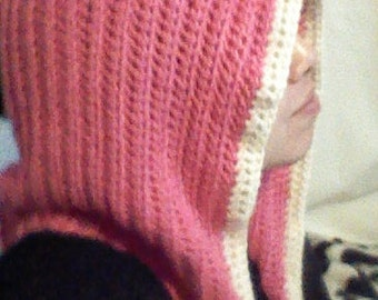 Pink and Cream Hood