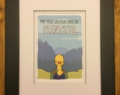May Your Vacation Days Be Plentiful, 5x7 Print, Illustration Print