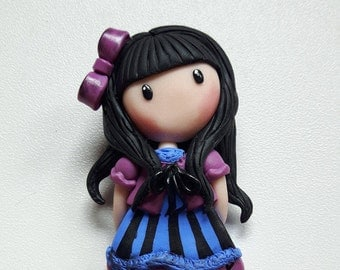 Brooch doll can-can
