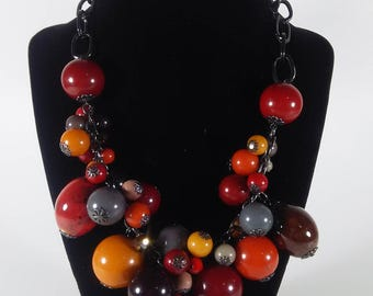 Festive NY Brand Colorful Beaded Necklace