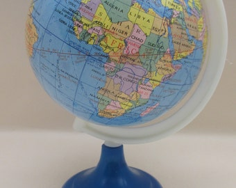 Vintage Plastic Desk Top Globe